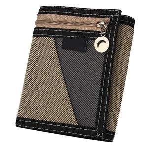 Wallet Casual Trifold Men Short Wallet Credit Card Multi Slots Purse Zipper Money Bag Multi-functional Cards Wallet Male Purse