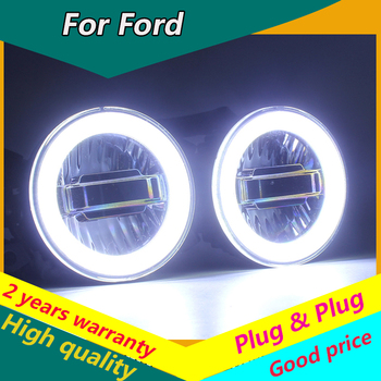 KOWELL coche estilo Ojo de ángel para Ford Ranger Ford Falcon tránsito Mustang LED Luz de niebla luz antiniebla para coche LED DRL 3 modelo de función