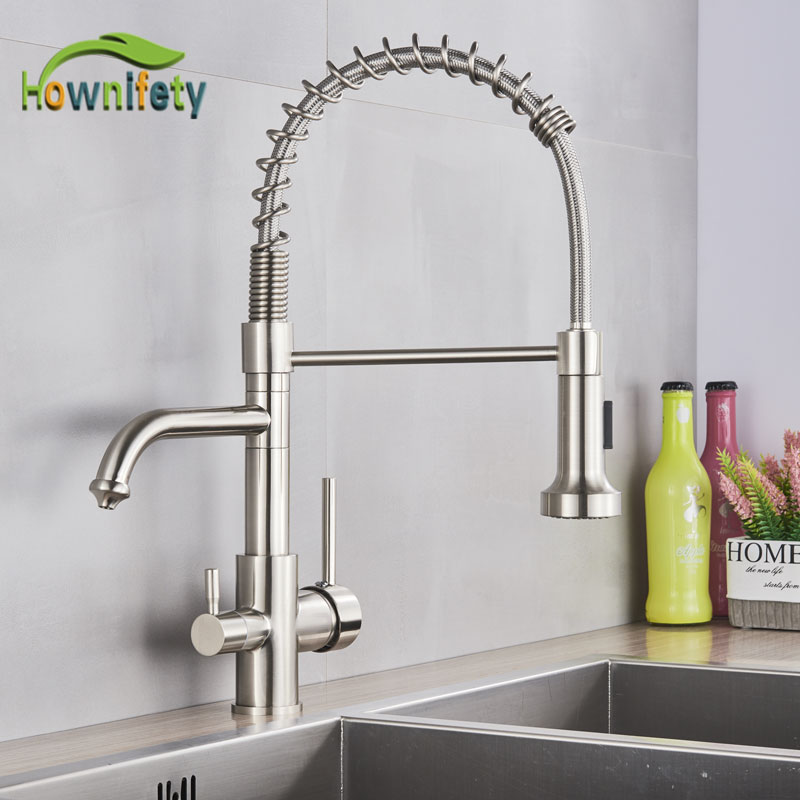 New Purified Kitchen Faucet  torneira para  Crane Chrome Polished  Filter hot cold water switch mixer sink Tap-in Kitchen Faucets from Home Improvement    1