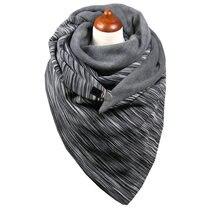 Amyo новый зимний женский шарф на пуговицах модный принт echarpe