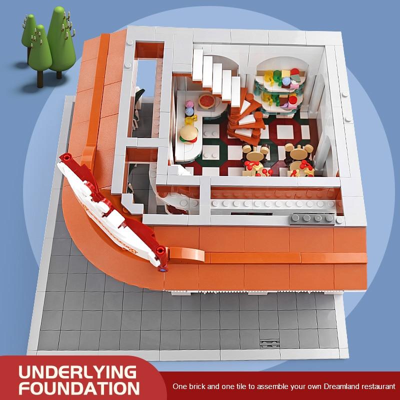 MOULD KING 11003 The MOC Paradise Corner Restaurant Model