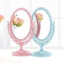 2470, европейский стиль, настольное зеркало для макияжа, двухстороннее туалетное зеркало, простое, большой размер, портативное зеркало принцессы