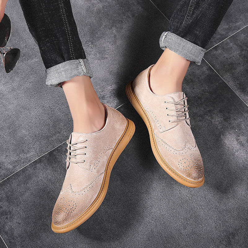 Image 3 - Men Flat Hollow Platform Shoes Oxfords British Style Creepers Brogue Shoe Male Lace Up Footwear Plus Size 38 46 Casual ShoesFormal Shoes   -