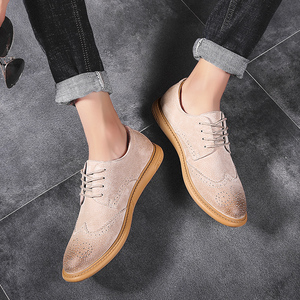 Image 3 - Men Flat Hollow Platform Shoes Oxfords British Style Creepers Brogue Shoe Male Lace Up Footwear Plus Size 38 46 Casual Shoes