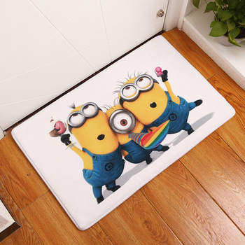 Cartoon Minions Printed Home Entrance Doormat Anti Slip Bathroom Carpet Absorbent Kitchen Mat Home Decor Living Room Hallway Rug persian totem printed home decor antiskid rug