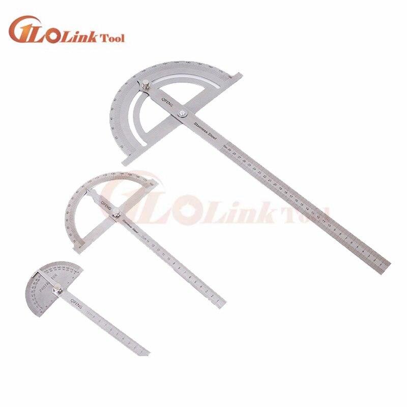 10cm 15cm 180 degrés pratique rapporteur Angle Finder artisan règle en acier inoxydable étrier mesure Angle règle