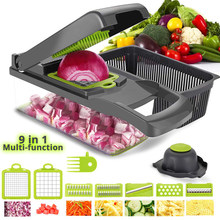 Vegetable Cutter Mandoline Slicer Buah Alat Mesin Penghancur Pengupas Bawang Putih Chopper Kentang Wortel Parutan Salad Pembuat Dapur Gadget(China)
