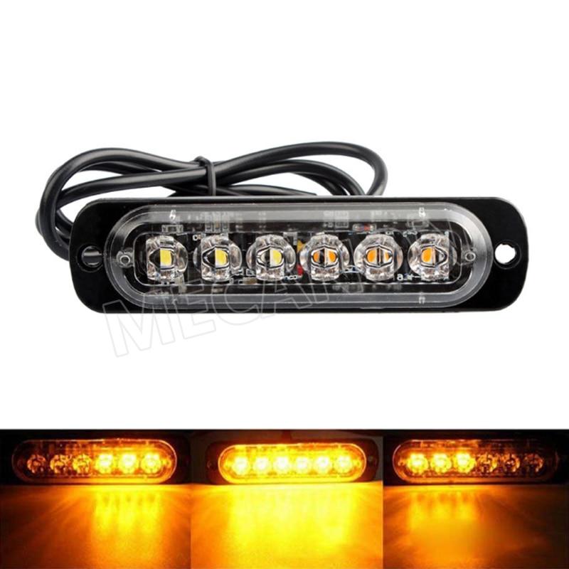 new 6led flash warning light motorcycle truck strobe lamp 12-24v -1-