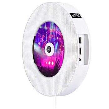 Portable Wall Mountable Bluetooth DVD Player USB LED Display HiFi Speaker Audio with Remote Control FM Radio Built-In EU Plug