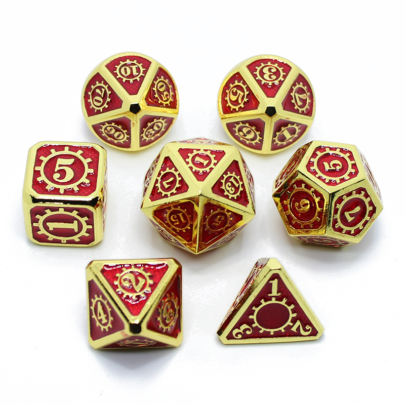 2019 DnD Metal Dice RPG MTG Dice Italics Font Dice Include Dice Pouch A Variety Of Colors D4 D6 D8 D10 D12 D20