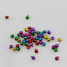 Colorful aluminum frosted small bell accessories pet bell DIY manual material 8mm in diameter (mixed color)