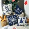 Merry Christmas 3D Santa Cushion Cover Santa Claus Elk Xmas Decor For Home 2021 Christmas Ornaments Natal Navidad New Year 2022