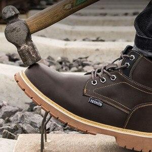 Image 2 - Work shoes safety shoes Rivet boots men waterproof non slip spark resistant smash resistant puncture resistant durable martens