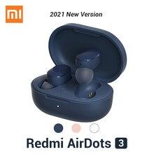 Xiaomi Redmi Airdots 3 słuchawki Bluetooth aptX adaptacyjne TWS Bluetooth 5.2 tryb gier 2021 nowe Mi prawdziwe bezprzewodowe wkładki douszne podstawowe 3