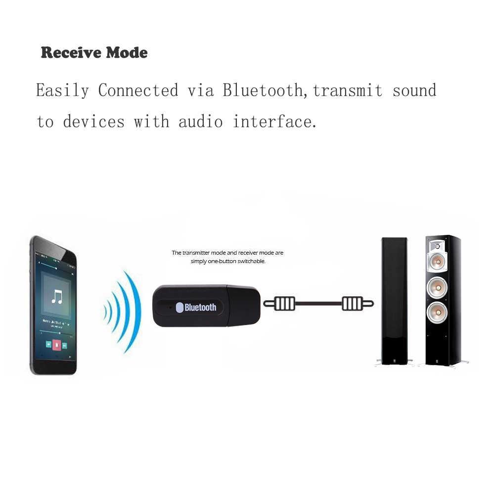 Audio música altavoz receptor 3,5mm adaptador estéreo Dongle USB Bluetooth cable AUX inalámbrico Dongle música receptor música