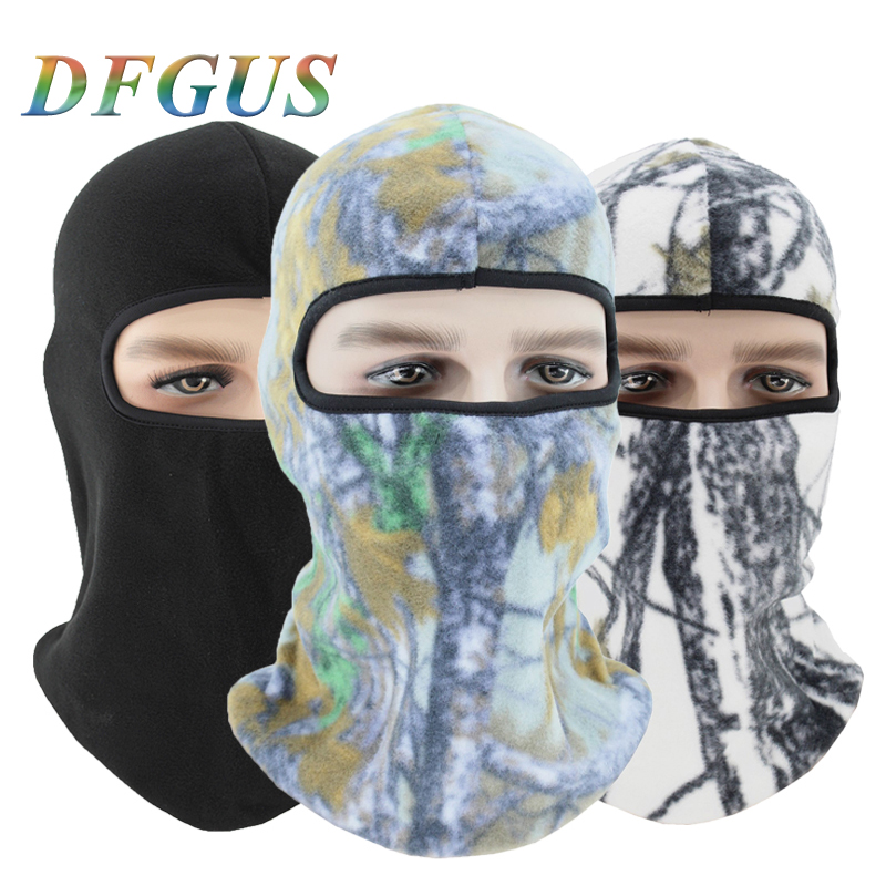 Hats Beanies Face-Mask Balaclava Neck-Warmer Fleece New Winter for Men Camouflage-Bandana