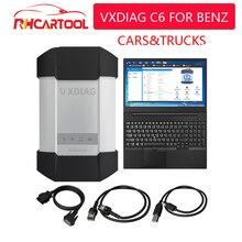 벤츠 자동차 트럭에 대 한 VXDIAG C6 OBD2 진단 도구 벤츠 스캐너에 대 한 XENTRY 진단 doip에 대 한 hdd와 스타 C4 c5보다 강력한