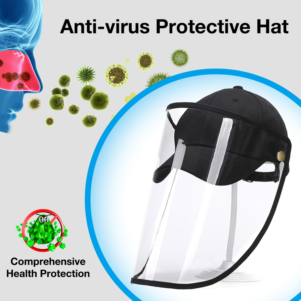 Windproof Dustproof Hat Full Face Protection Detachable Shield Screen Mask Anti-Dust Fisherman Cap