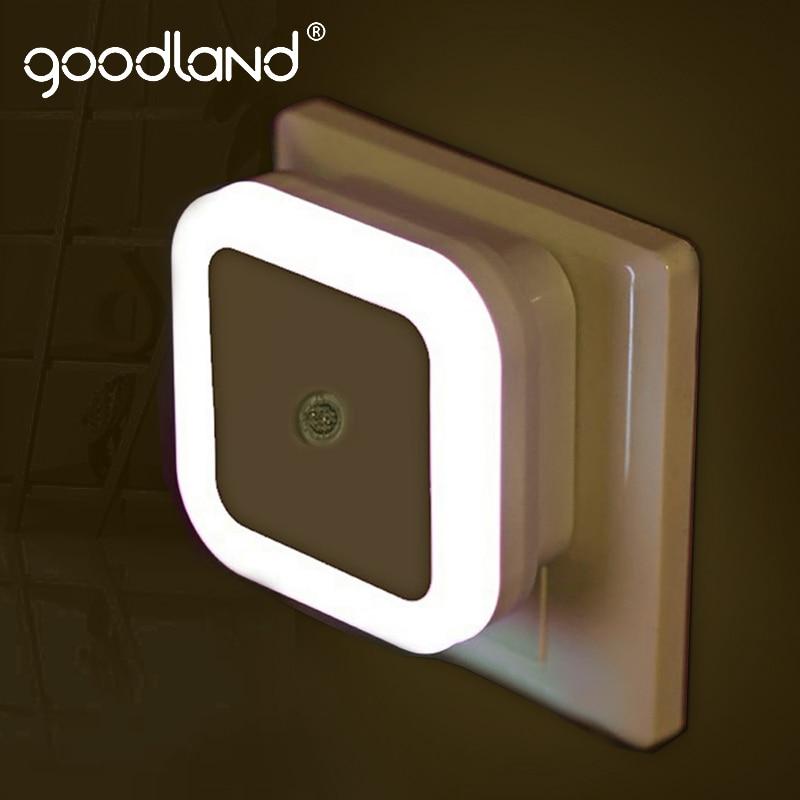 Goodland LED veilleuse capteur contrôle lampe de nuit économie dénergie LED capteur lampe ue nous Plug veilleuse pour enfants enfants chambre