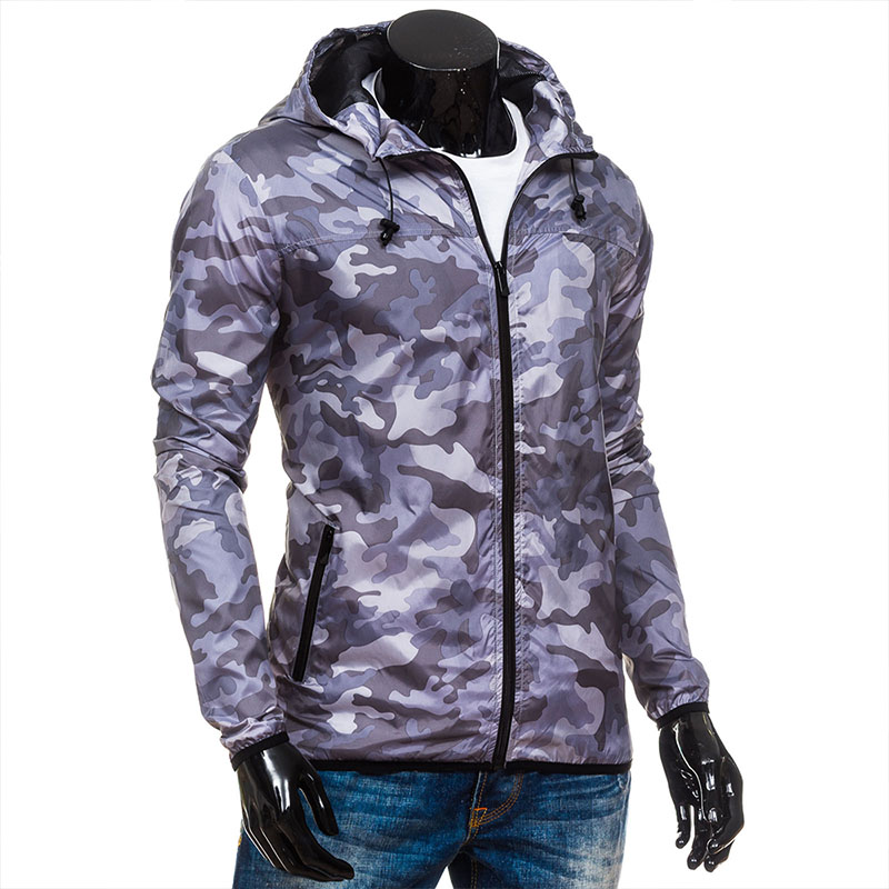 Casual Slim Jacket Men'S 2020 Fall Winter Trend Fashion Camouflage Hooded Windproof Youth Outdoor Mountaineering Outerwear
