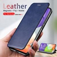 Funda de cuero con soporte magnético para Samsung Galaxy A22 A 22 2021, funda protectora para Samsung Gelaxi A-22 4G 5G, estilo libro A prueba de golpes