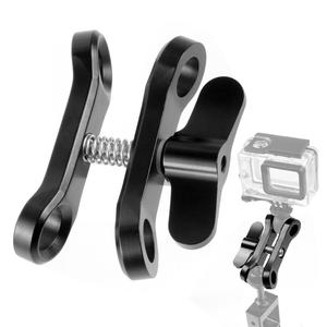 Image 2 - Triple Ball Clamp Diving Camera Bracket Aluminum Spring Flashlight Butterfly Clip Underwater Photography Mount Adapter Accessory