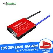 Deligreen 10S 36V 20A 30A 40A 50A 60A PCM/PCB/BMS 3.7V 리튬 배터리 팩 18650 Lithion LiNCM Li Polymer Scooter