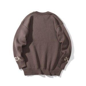 Image 4 - 冬の新ヴィンテージ厚手のウールのセーター男性プリント柄ニットプルオーバーメンズ暖かい快適なoネック長袖セーターYT50155