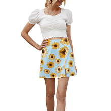 Stylish Skirt Floral-Print Fashion Women Ladies for Daily-Wear Present/party