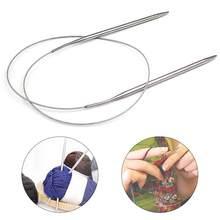 80Cm 2.0-10 Mm Rvs Rondbreinaalden Haak Naalden Voor Breien Diy Weven Pins Naald Craft gereedschap