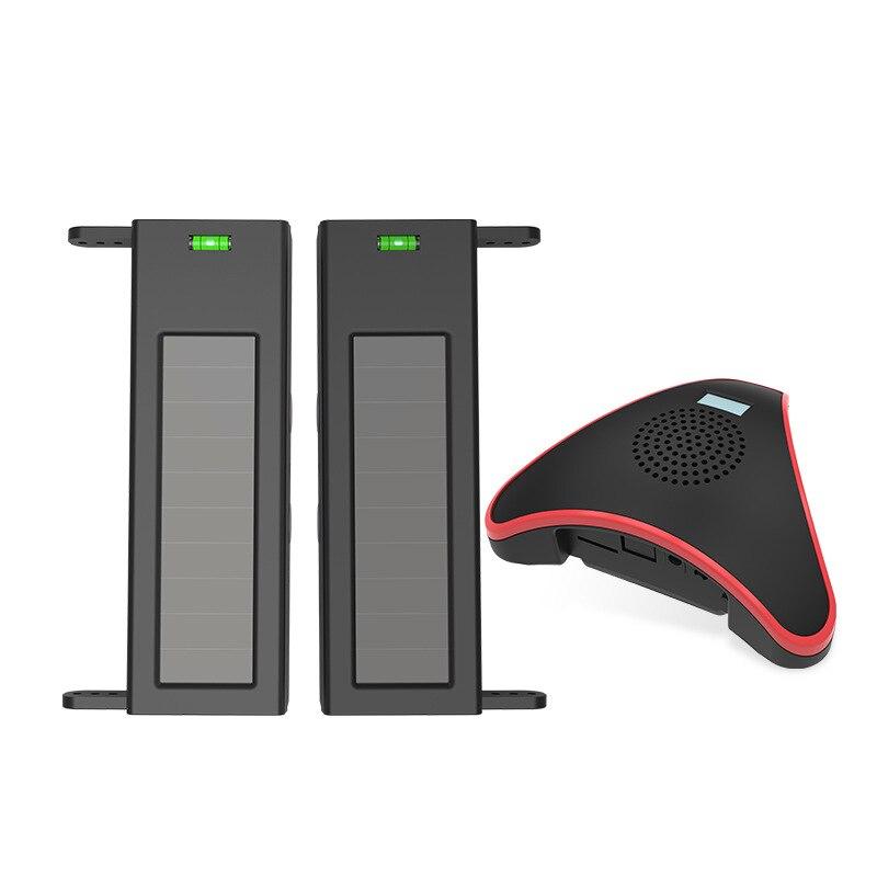 Système d'alarme anti-Intrusion de périmètre de mur de rayonnement infrarouge de voie sans fil solaire imperméable extérieure de 2 faisceaux (prise de l'ue