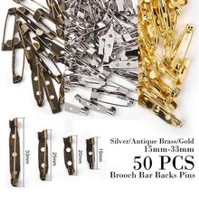 Accessory Safety-Pin-Brooch Iron-Needles Sewing-Tools Gold DIY Silver 50pc Antique 15/20/25/33mm
