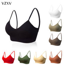Sexy Women Bra Tops Lingerie Brassiere Crop-Tube Seamless Push-Up Sports Female Fitness