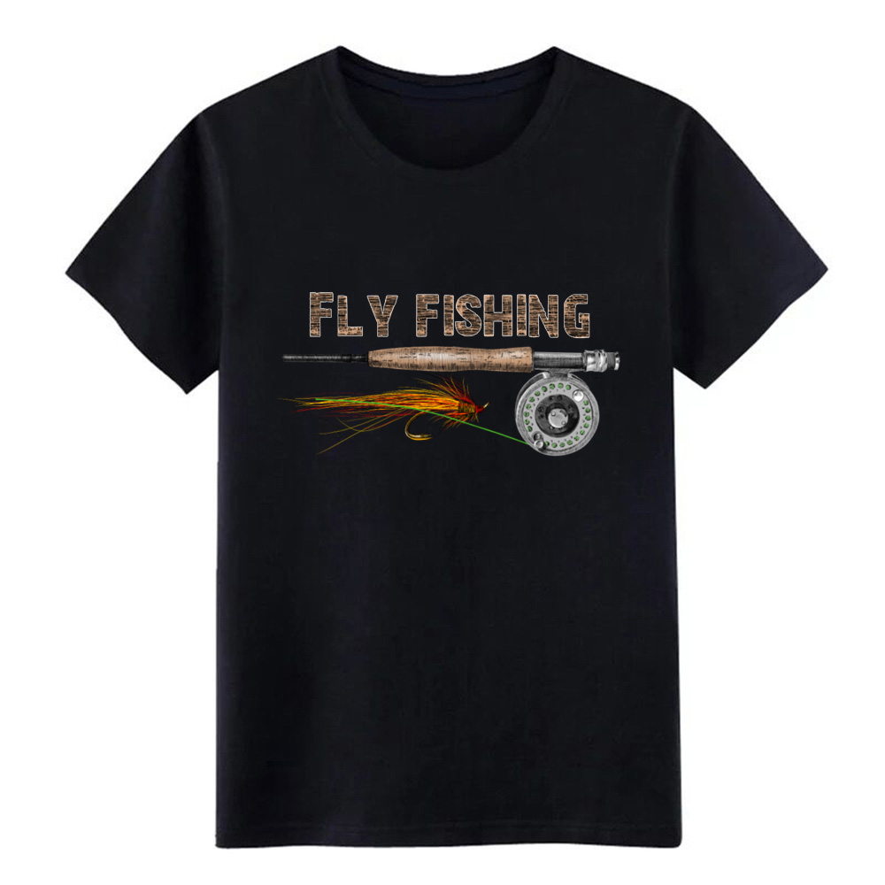 Men's Fly Fishing T Shirt Knitted Tee Shirt O Neck Standard Famous New Style Spring Formal Shirt