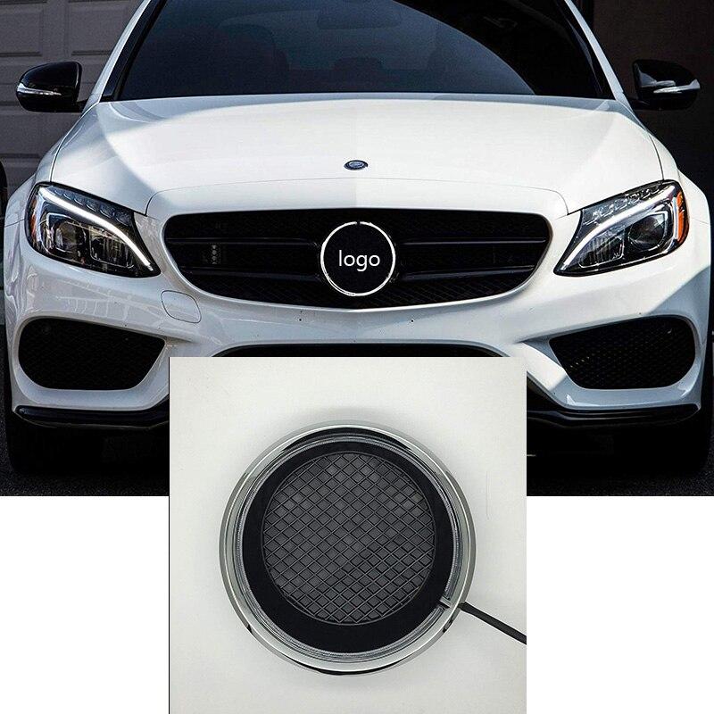 LISIDIC Car Front Grilled Star Emblem LED Illuminated Logo For Mercedes Benz W205 C E R ML GL GLA CLA CLS 2013-2016 White Light