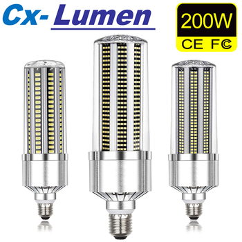 CX-Lumen LED Corn Lamp E39 E40 LED Corn Light Bulb 50W 120W 200W LED Lamp 110V 220V E27 Aluminum For Warehouse Factory Basement led light e27 led lamp bulb 220v e39 led bulb 50w ampoule 110v high lumen lamp for workshop warehouse factory lighting 5730smd