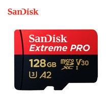SanDisk – carte Micro SD Extreme PRO, 32 go/64 go/256 go/128 go, jusqu'à 170 mo/s, U3, V30, 1 To, carte mémoire avec adaptateur SD