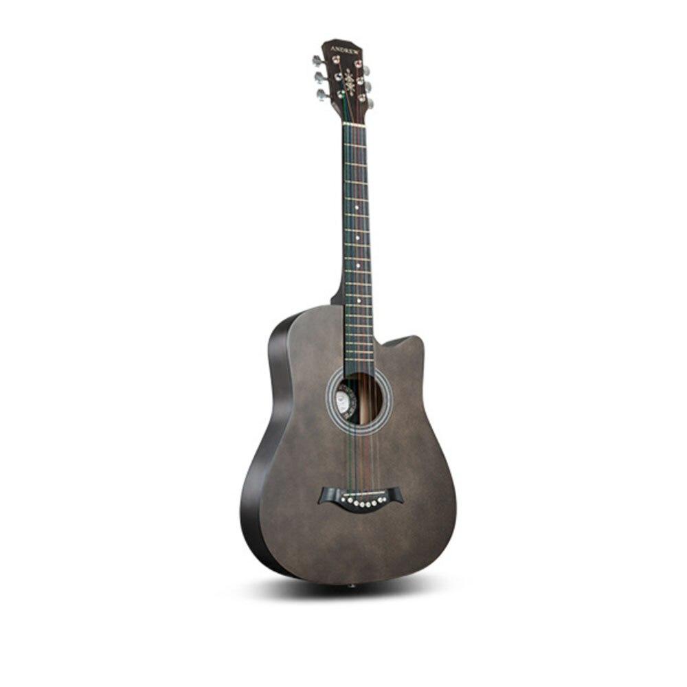 38 pouces professionnels 6 cordes en laiton guitare folk bois de tilleul instrument de musique acoustique débutant tout usage explorer guitare