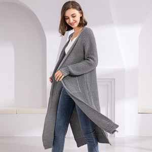 Image 4 - Colorfaith New 2020 Autumn Winter Womens Sweaters Korean Style Minimalist Solid Multi Colors Casual Long Cardigans SW8528