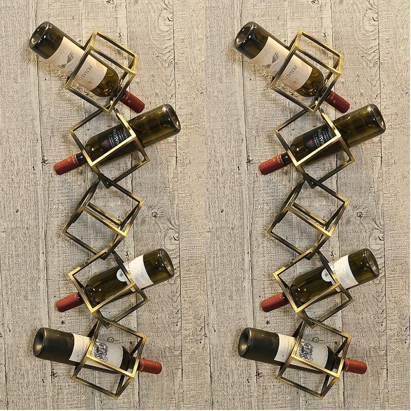 Creative Red Wine Rack Creative Metal Grape Wine Rack Wall Hanging On The Wall Of Restaurant,
