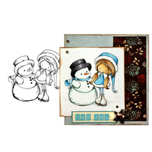 Christmas Snowman Clear Stamps for DIY Scrapbooking Card Rubber Stamps Making Photo Album Crafts Template Decoration New Stamps merry christmas trees sticker painting stencils for diy scrapbooking stamps home decor paper card template decoration album
