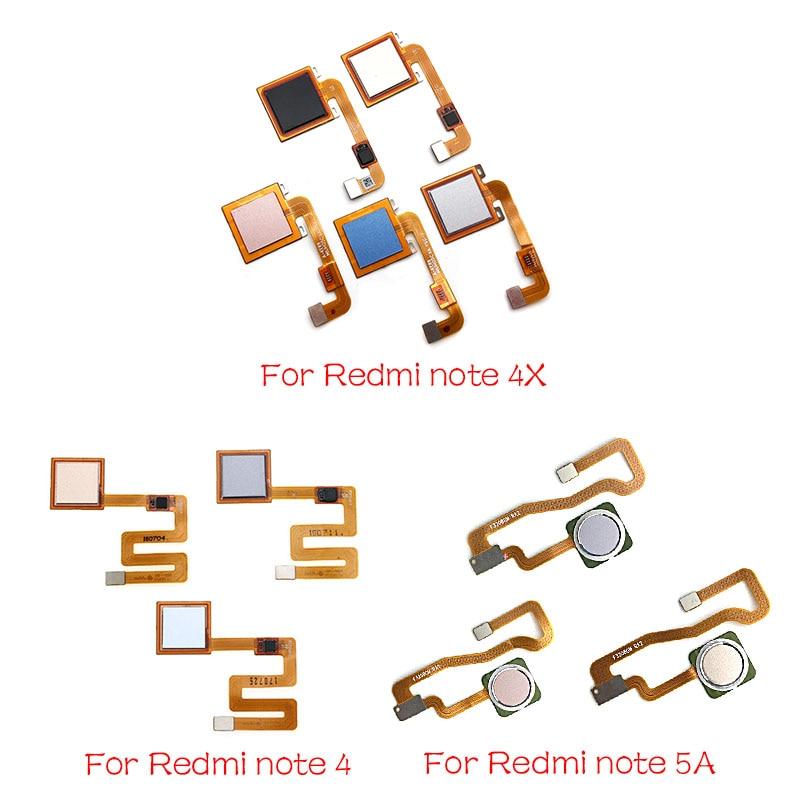 Home Finger Reader Fingerprint For Xiaomi Redmi Note 4 4X 5 5A 3 Pro  Reader Sensor Home Button Flex Cable