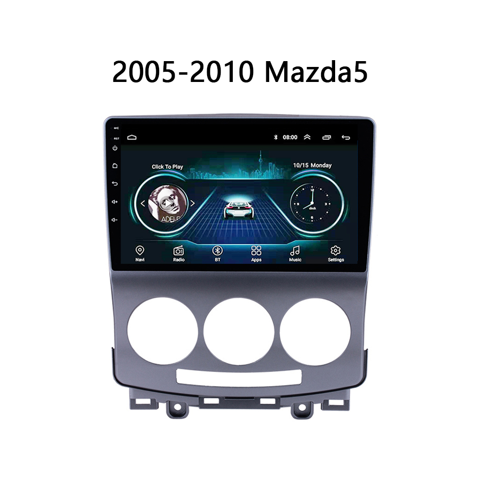 auto radio For Old <font><b>Mazda</b></font> <font><b>5</b></font> car DVD Player 2005 2006 2007-2010 <font><b>GPS</b></font> navi system support wifi Carplay SWC Android 8.1 no 2 din image