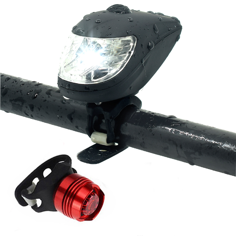 USB Rechargeable LED Bicycle Bike Front Rear Light Set Headlight Taillight Lamp
