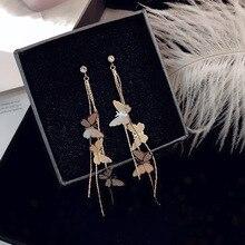 Cute DIY Butterfly Earrings For Women Insect Earring Jewelry Girls Kawaii Colorful Metal Earing Jewellry Gifts