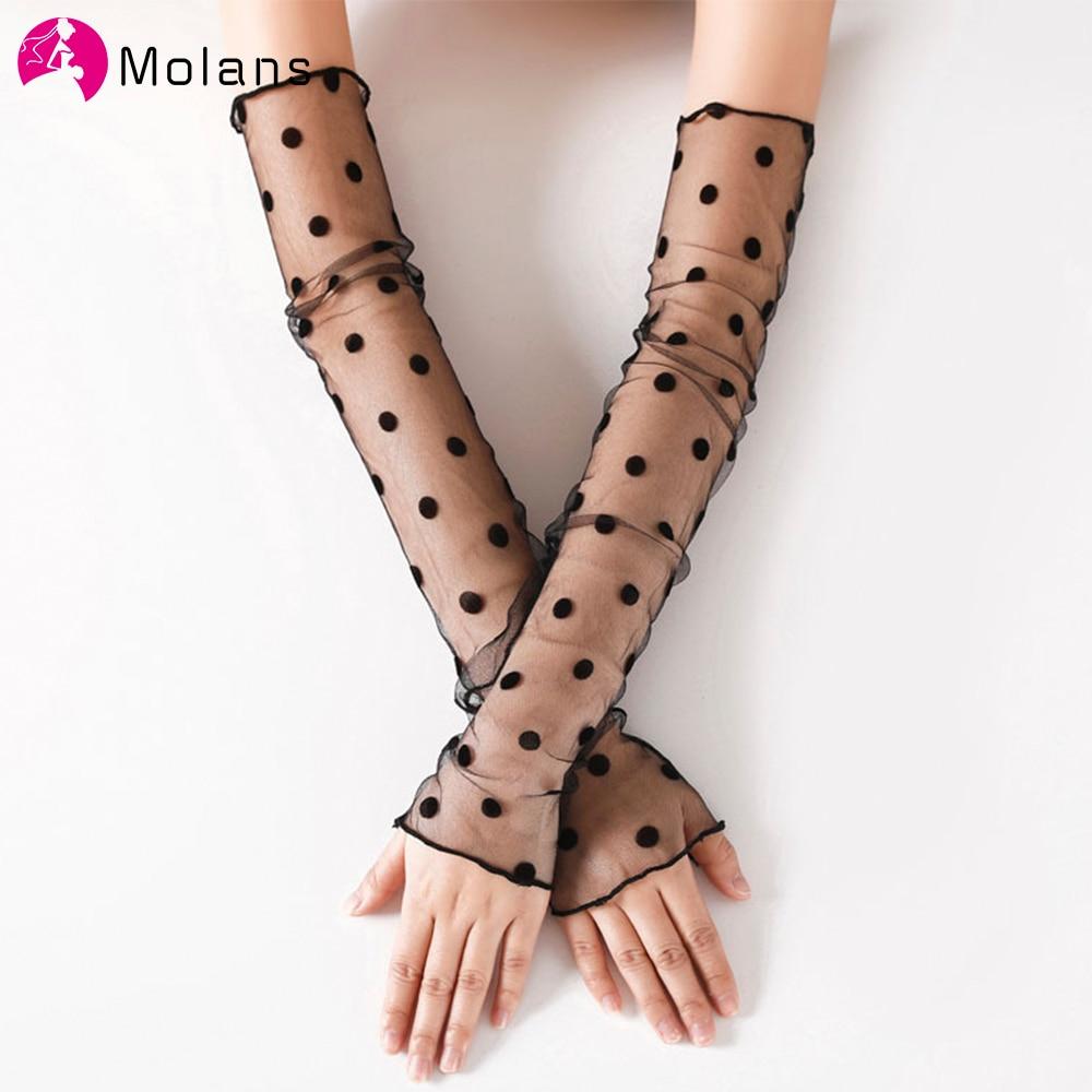 1 Pair Women Bride Long Lace Arm Elbow Gloves Lace Fingerless Wedding Gloves