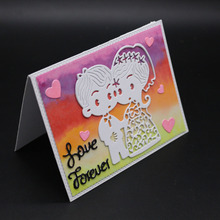 AZSG wedding love Cutting Dies Clear Stamps For DIY Scrapbooking/Card Making Decorative Silicone Stamp Crafts