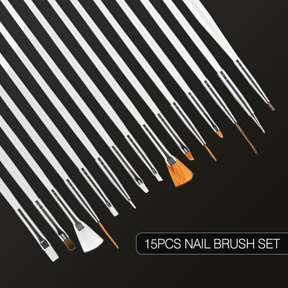 COSCELIA Brushes For Manicure Set For Nail Art Tools For Manicure Set For Gel Varnish Nail Kit Nail Set Painting Drawing Brush