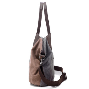 Image 2 - PILER Casual Big Frauen Tasche Handtaschen Leinwand Schulter Taschen Hobo Große Crossbody tasche Handtasche Einkaufstaschen für Frauen Umhängetasche