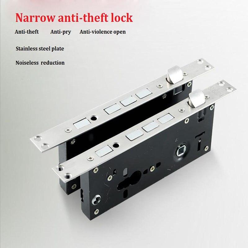 Universal Narrow Security mortise Door Lock body,mortise door Locks part 68*45